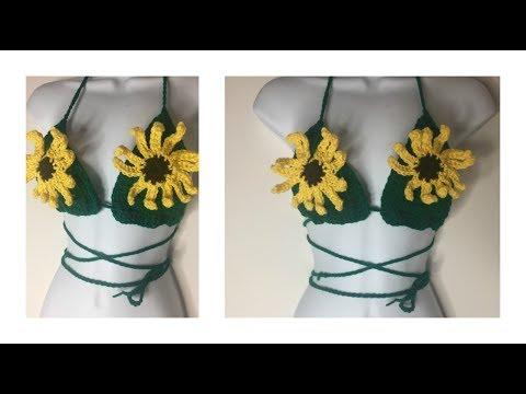 a27e41c3bb2395 CROCHET Sunflower Crop Top Tutorial 🌻 - YouTube