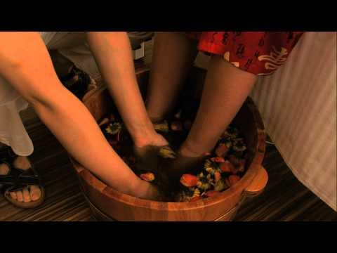 Fußreflexzonenmassage bei kangmei massage