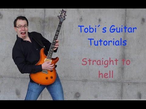 Straight to hell guitar Tutorial deutsch