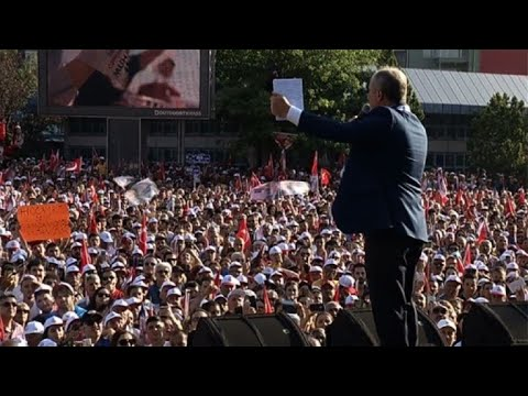 Erdogan's chief rival Muharrem Ince holds rally in Ankara