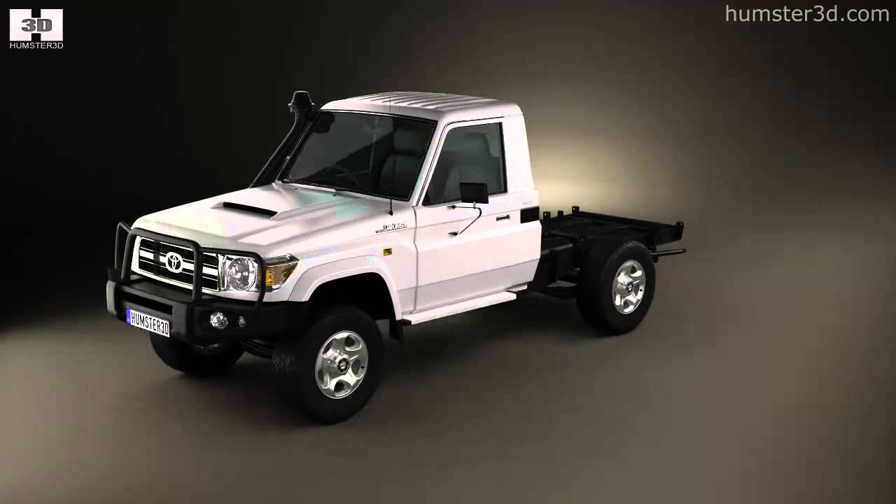 Toyota Land Cruiser J70 >> Toyota Land Cruiser (J70) Cab Chassis GXL 2008 by 3D model store Humster3D.com - YouTube