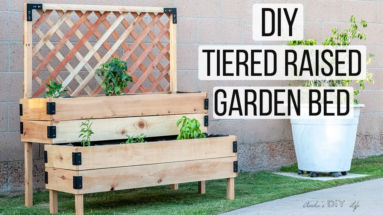 Diy Tiered Raised Garden Bed Full Tutorial And Plans Anika S
