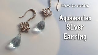 Handmade Fashion Jewelry | Aquamarine earring | March's Birt…