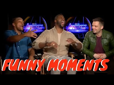 Anthony Mackie, Sebastian Stan, and Winston Duke Avengers Infinity War Funny Moments