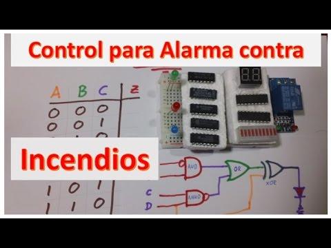Circuito de control para sistema contra incendios
