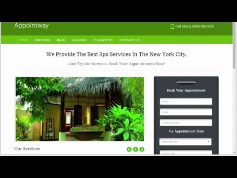 Appointment WordPress Theme To Create Online Booking Website [Appointway Tutorial]