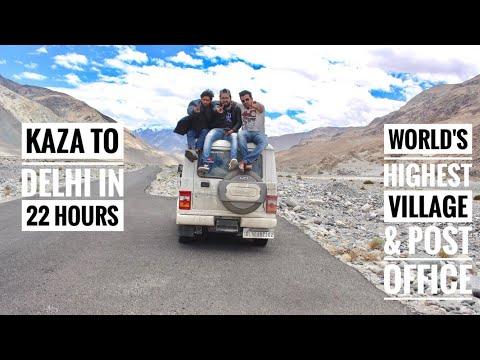 Kaza to Delhi in 22 Hours | Worlds's Highest Post Office & Village | Mahindra Bolero | Drone Shots