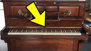 Супруги продали старое пианино, даже не подозревая, что было спрятано внутри!
