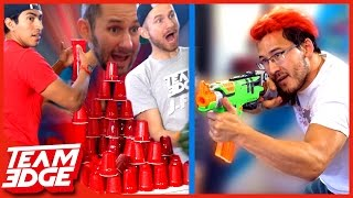 CUP SHOOTING BATTLE!! ft. Markiplier and Kids with Problems