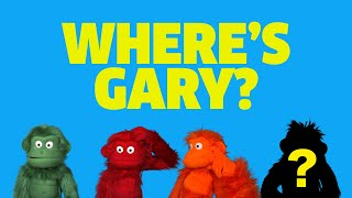 Where's Gary?! | Big Red Button | Puppet Show! | Videos & Songs for Kids