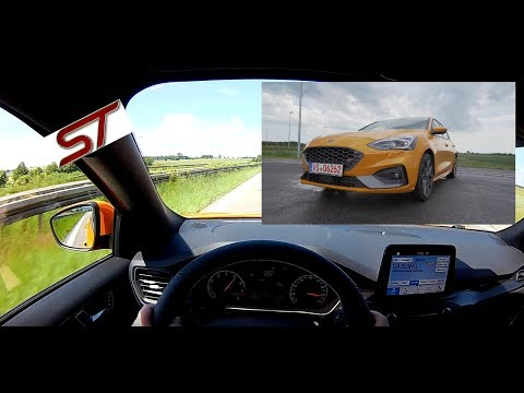 2019 Ford Focus ST 2.3 EcoBoost (280 PS) POV Drive AUTOBAHN acceleration & speed