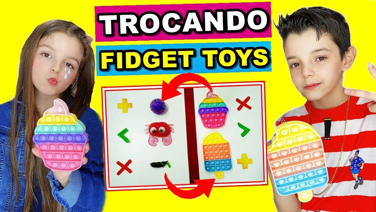 TROCAS DE FIDGET TOYS | TROCANDO FIDGET TOYS | PIERO START E HELENA