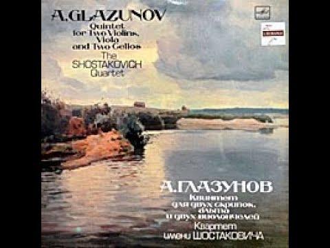 Alexander Glazunov : String Quintet in A major Op. 39 (1891-92)