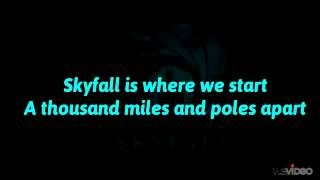 Adele - Skyfall (Lyrics On Screen) 007 Theme Song