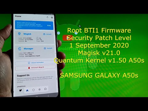 How to Root Samsung Galaxy A50s BTI1 Firmware with Magisk v21.0 Android 10
