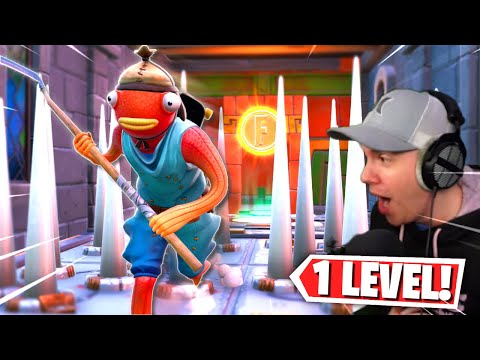 this deathrun has 1 level... but its INSANE! (Fortnite Creative Mode)