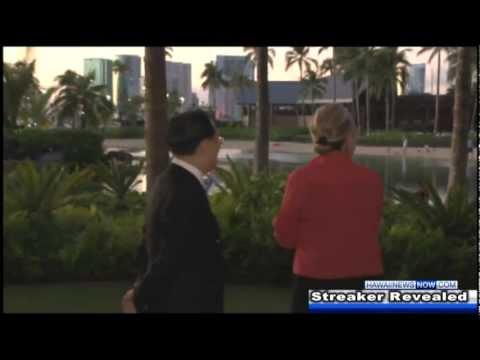 Hillary Clinton Streaker (Naked Man) revealed