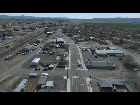 Drone flight over Lovelock Nevada