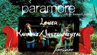 Pressure - Paramore lower key karaoke/instrumental