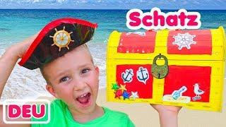 Kinder fanden Spielzeugpiratenschätze. Video für Kinder von Vlad und Nikita