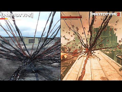 Prototype - Alex Mercer Vs James Heller Power Comparison #2