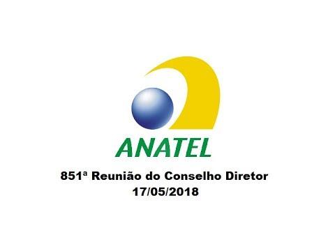 851ª Reunião do Conselho Diretor, de 17/05/2018