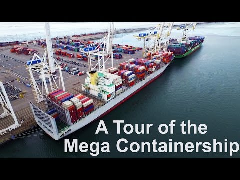 Tour of the Mega Container Ship | Life at Sea | Mariner
