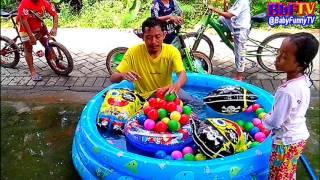 kolam air mainan anak kecil   bermain mandi bola  balon karakter spongebob