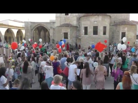 The Russians celebrate the day of victory in Cyprus