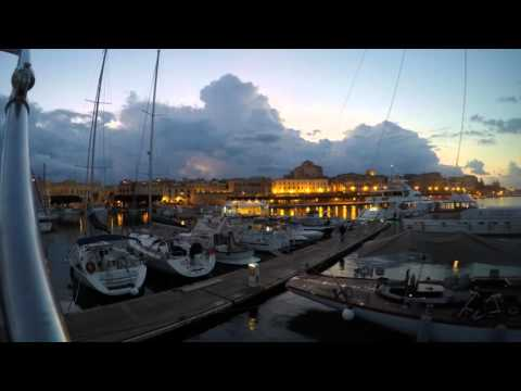 Time Lapse over Ortigia, Sicily during Sundown, Blood Moon rise and Sunrise - Sept. 27, 2015