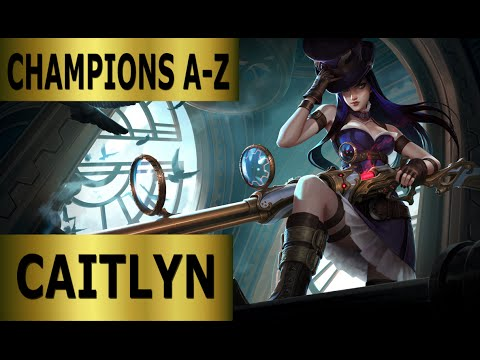 Champions A-Z #014 Caitlyn ADC Bot Lane Guide - Full Gameplay [German] League of Legends by DPoR