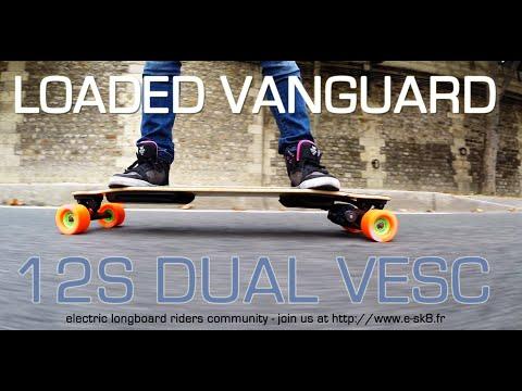 E-SK8.FR / Electric Longboard LOADED Vanguard Flex 3 Dual VESC - ON THE FIELD !