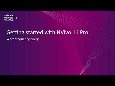 NVivo 11 Pro: Word frequency query