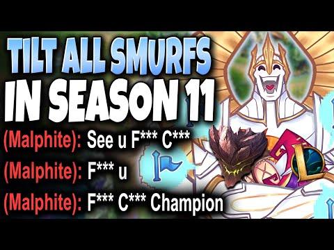 ☢️ How to TILT ALL TOXIC Season 11 SMURFS EASILY ☢️ Immortal Series #02 LoL Galio Preseason Gameplay