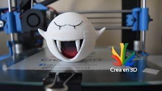 Timelapse impresion 3D de un Boo - Crea en 3D
