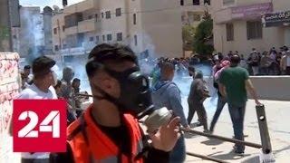 Смотреть видео Сектор Газы: израильская армия распыляет газ с помощью дронов - Россия 24 онлайн