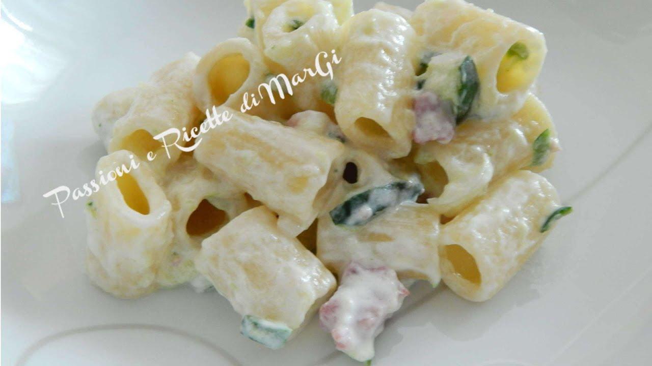 video ricetta pasta con yogurt greco e zucchine ricette di