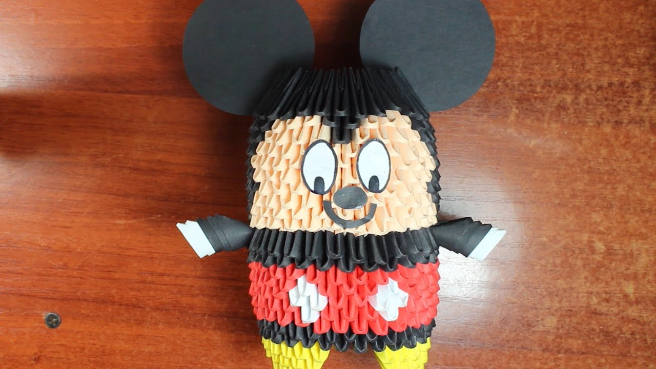 Mickey Mouse En Origami 3D TUTORIAL! - YouTube