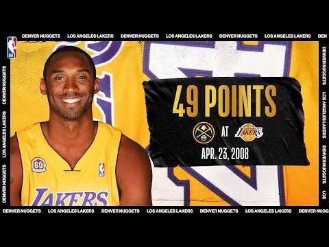 Nuggets @ Lakers: Kobe's 49 PTS Leads LAL In Game 2 (April 23, 2008) #NBATogetherLive #20HoopClass