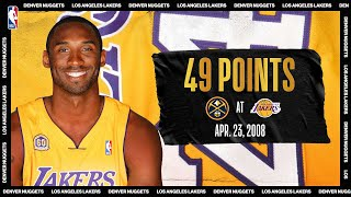 Nuggets @ Lakers: Kobe's 49 Pts Leads Lal In Game 2 April 23, 2008 #nbatogetherlive #20hoopclass