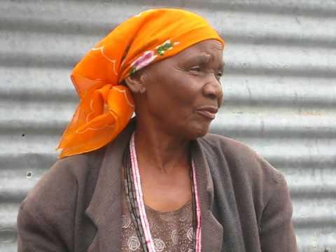 Grandmother speaking Oshivambo