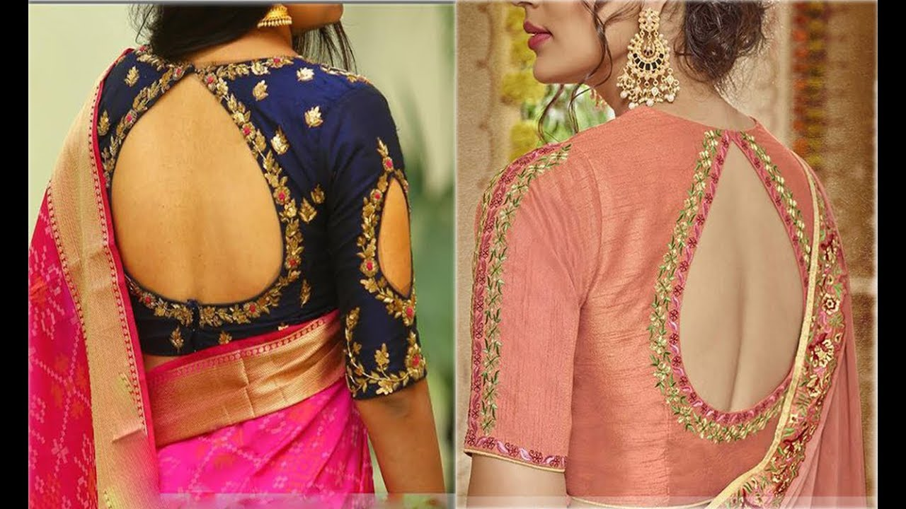 47a61df9acc Designer Blouse Designs For Back Neck For Silk Sarees