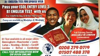 B1 Esol Entry 3 English Test Centre In London   Manchester   Birmingham Tel: 0208 279 0719