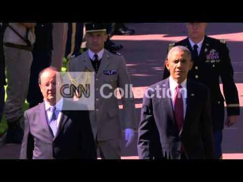 FRANCE: D-DAY 70TH  OBAMA amp; HOLLANDE