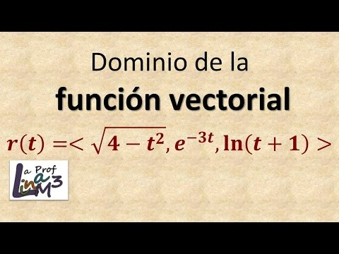 Dominio de una función vectorial | Cálculo vectorial | La Prof Lina M3