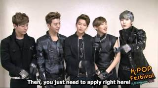 [ENG] 130503 B.A.P Greeting - K-Pop Festival in Gangwon 2013