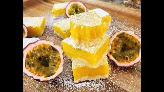 Passionfruit Coconut Bars