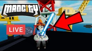 🔴 MAD CITY Live Stream | How to get Lazerblade | Light Bike | Easter Egg | Roblox Update