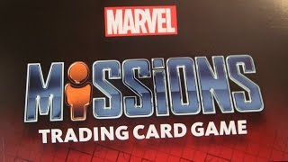MARVEL Missions  Starterpack Trading Card Game Unboxing