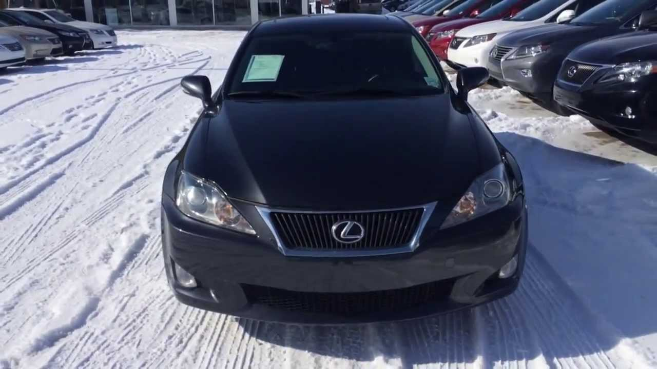 pre owned 2009 dark grey lexus is 250 awd leather with moonroof package review youtube. Black Bedroom Furniture Sets. Home Design Ideas